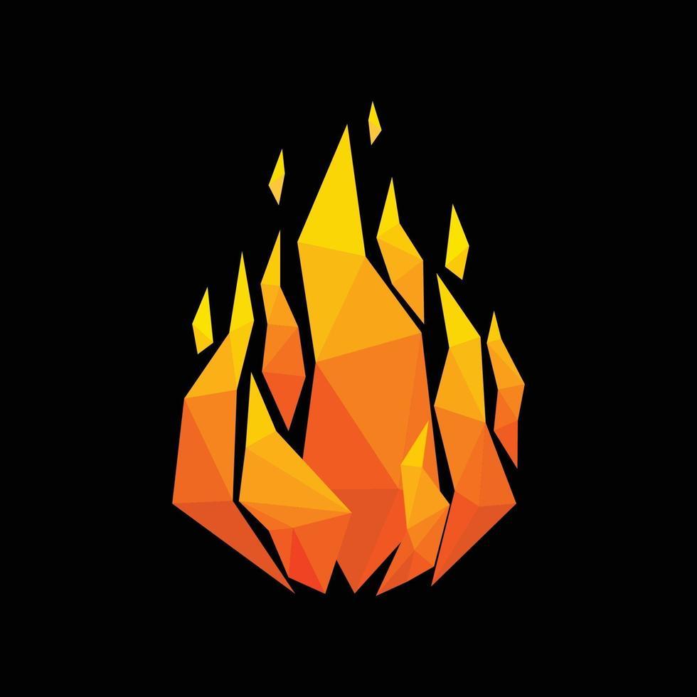 abstrakt flamma triangel geometrisk design. vektor illustration