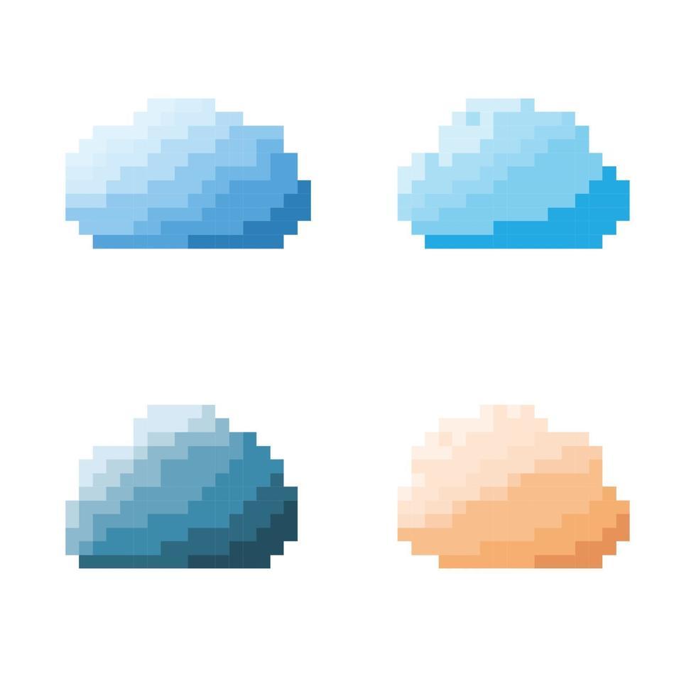 moln pixel koncept. vektor illustration