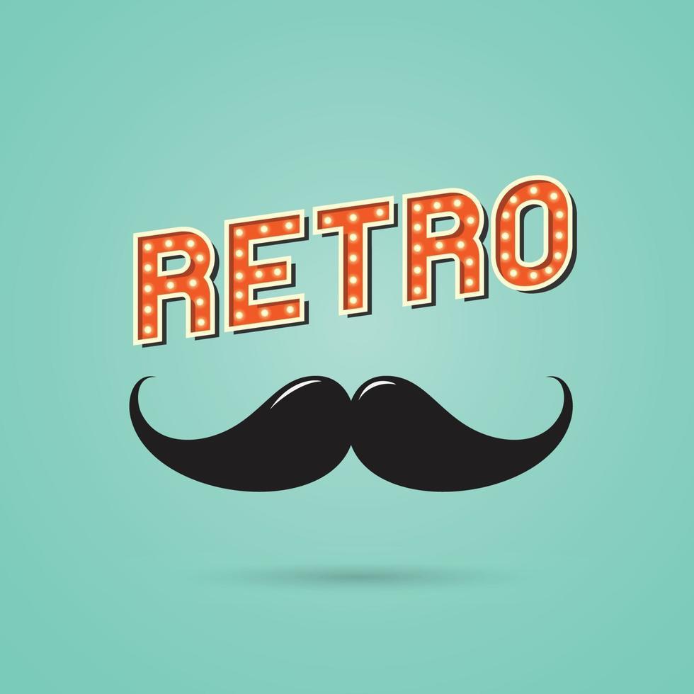 mustasch retro tecken. vektor illustration