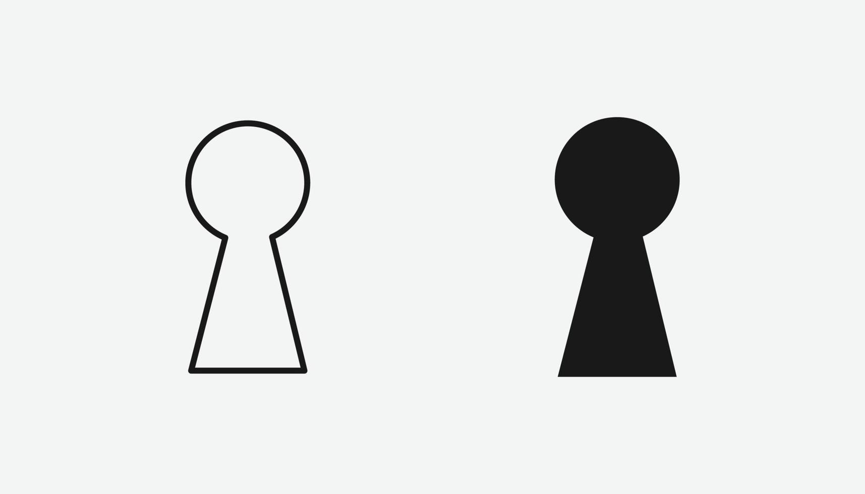 nyckelhålsvektorsymbol för webbplats och mobilapp vektor