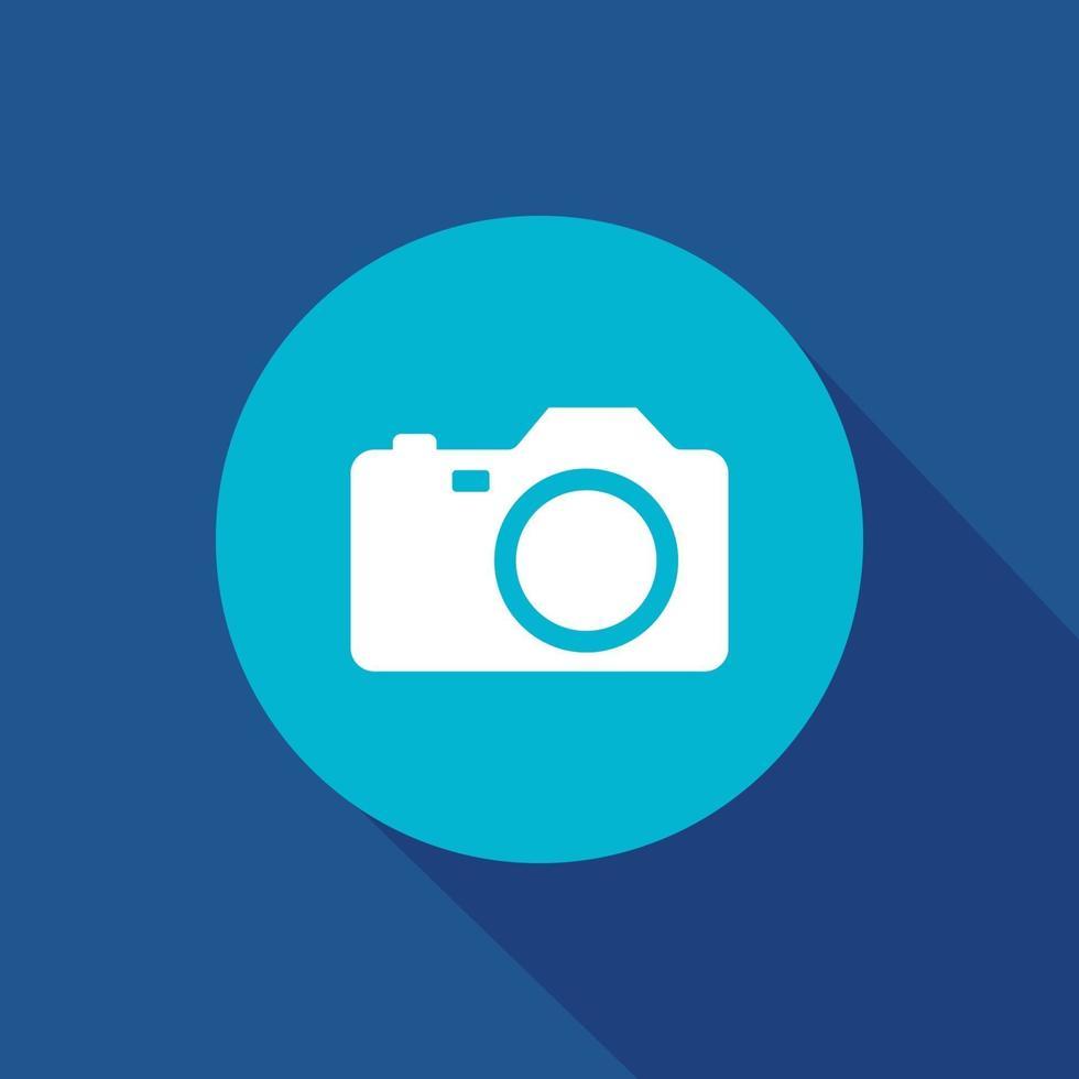 kameravektorsymbol för webbplats och mobilapp vektor