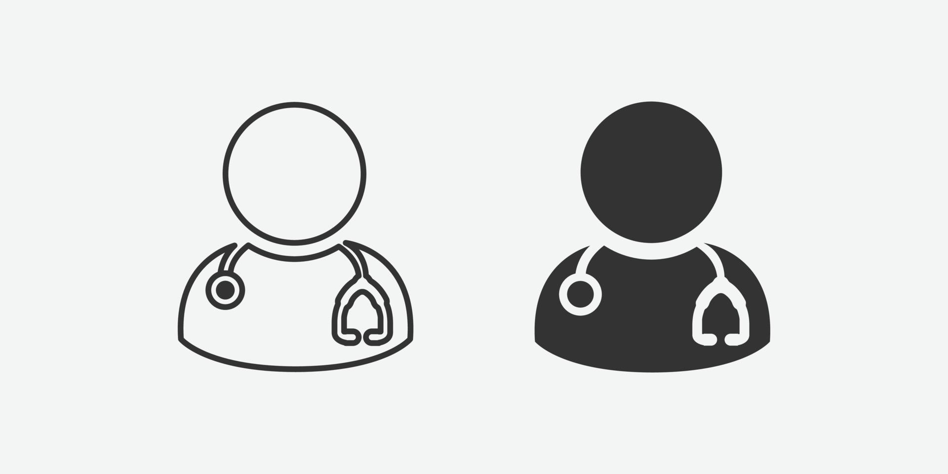 läkare med stetoskop vektor isolerad ikon för webben