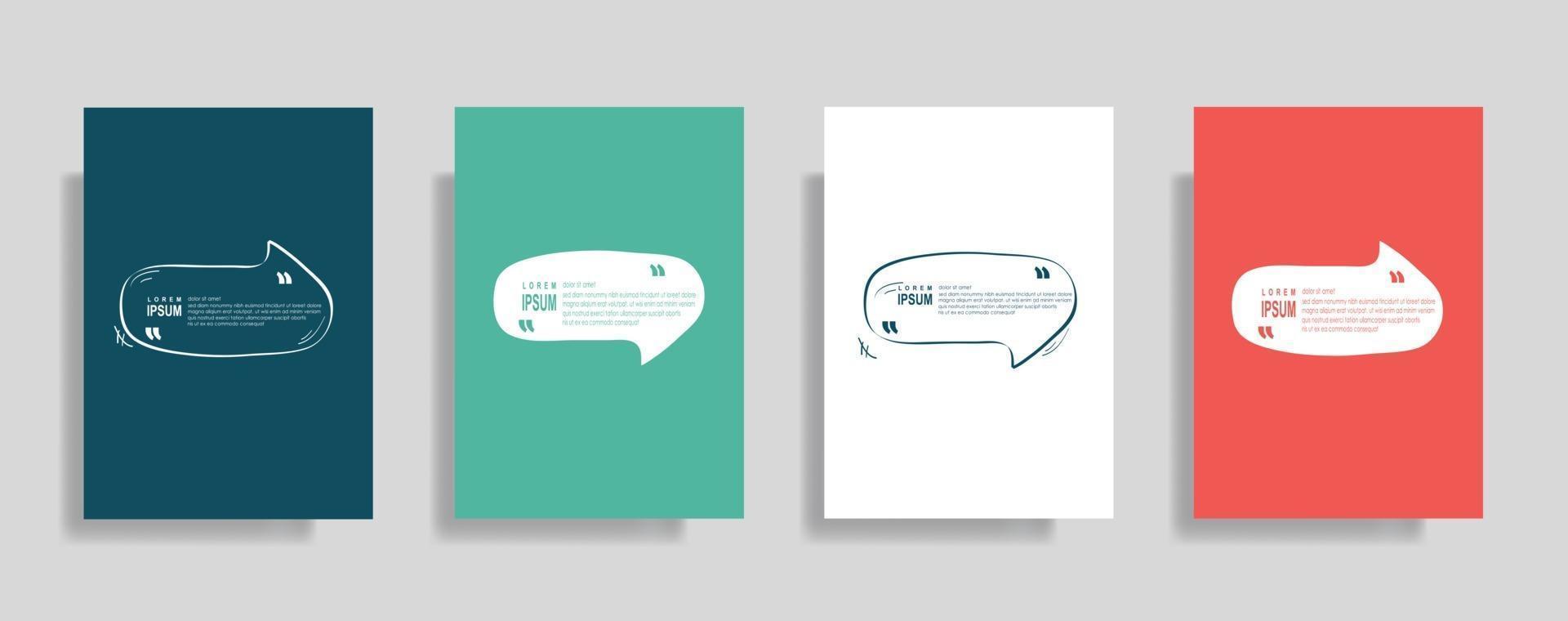 citat ram tomma mallar, text inom parentes, citat tomma pratbubblor. text bos isolerad på färgbakgrund. vektor