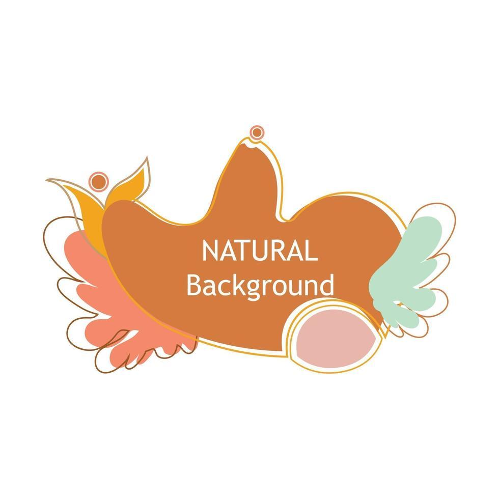 dekorative natürliche Illustration. Perfekt für Designprojekte, Hintergrund, Social Media Post, Banner vektor