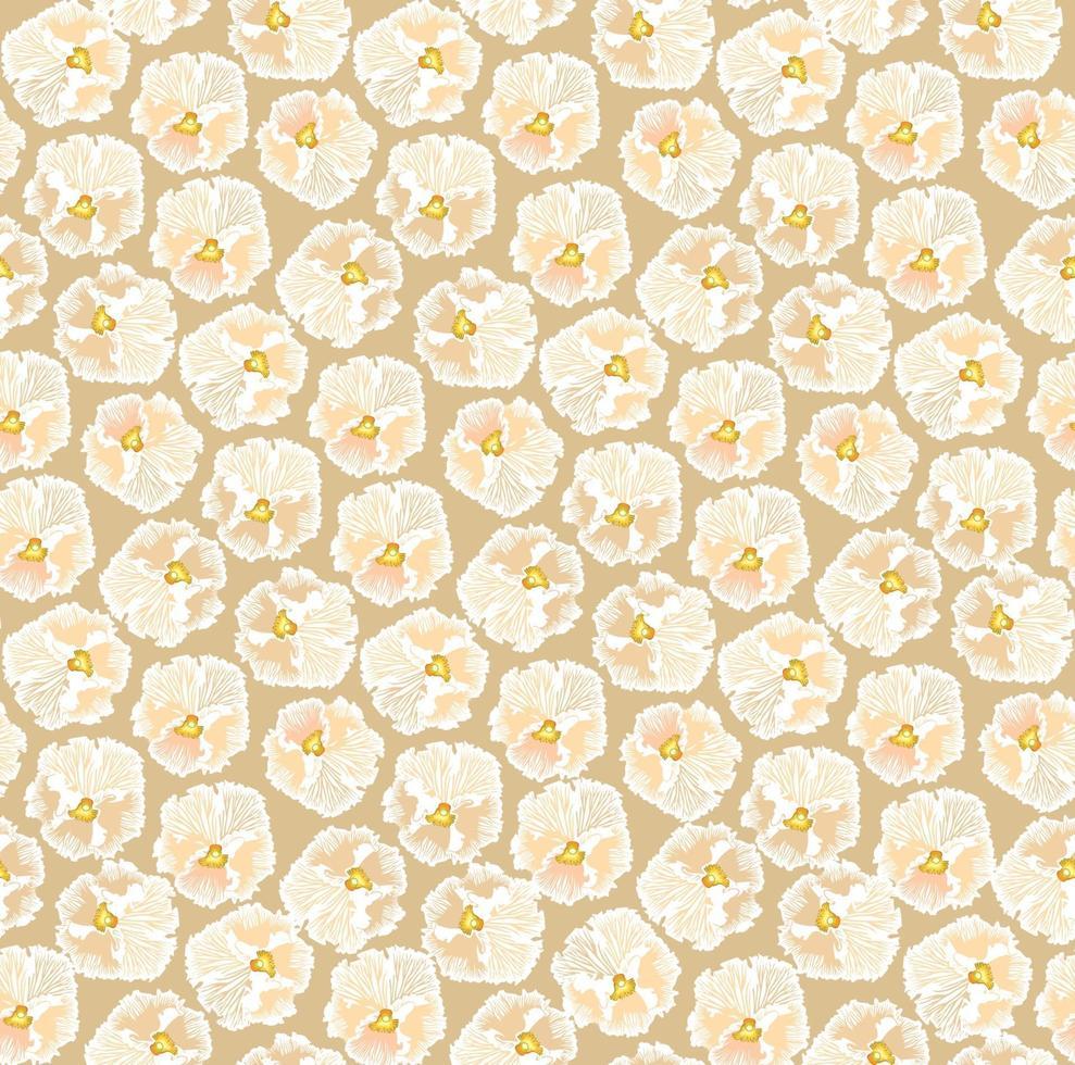 blommönster med blad i elegant retro linje konststil. abstrakt sömlös blommig linje bakgrund. blomstra prydnads vinterträdgård med blomstra natur säsongsmotiv vektor