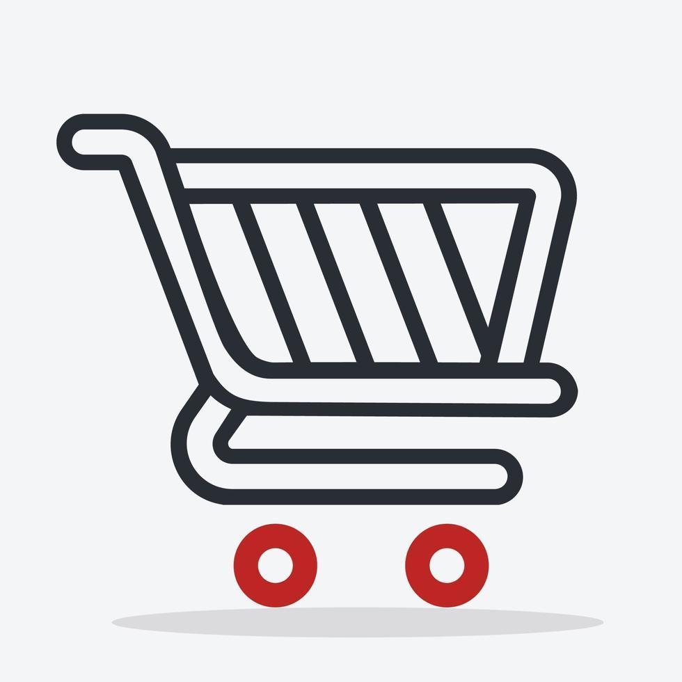 shopping cart ikon tecken vektor