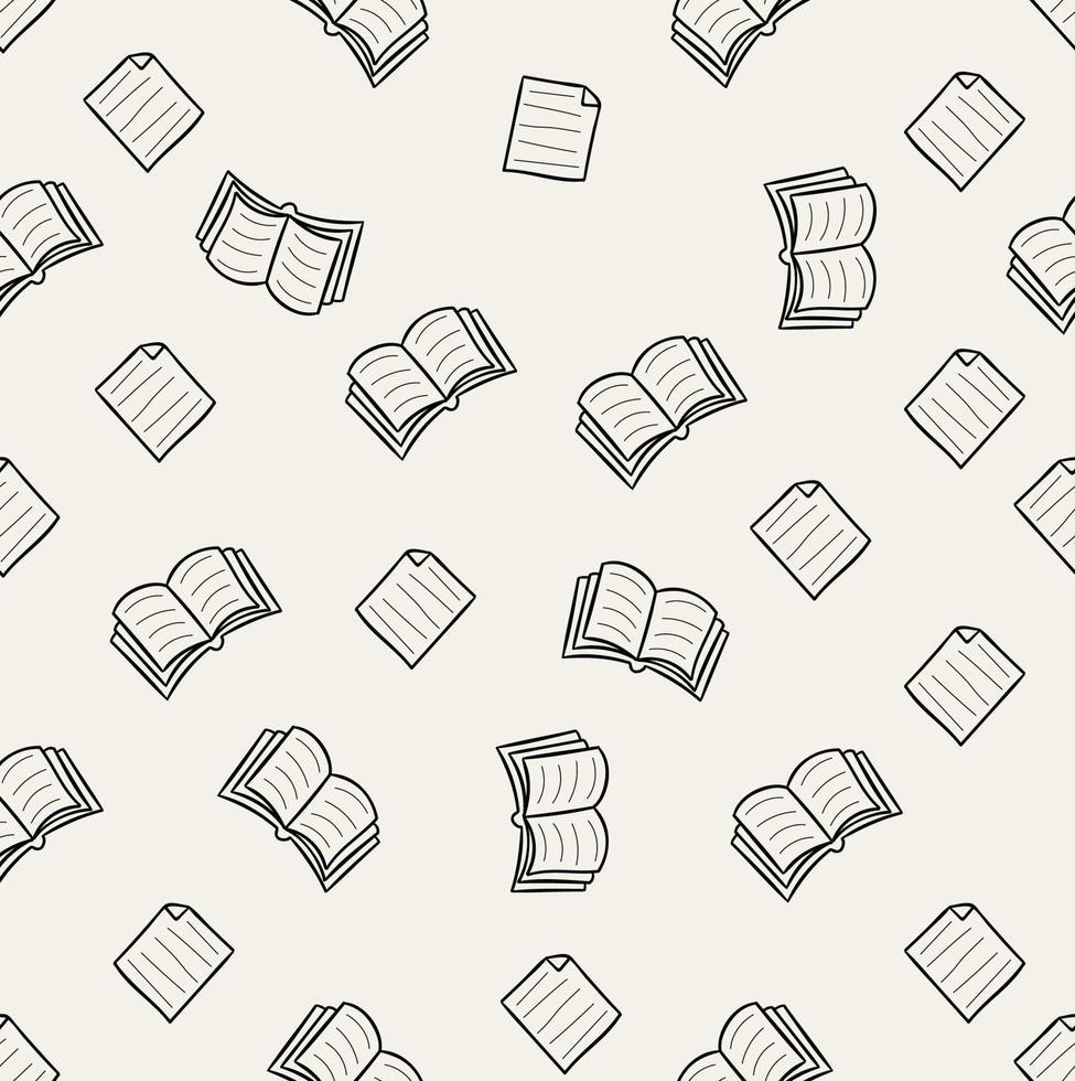 doodle bok vektor sömlösa mönster
