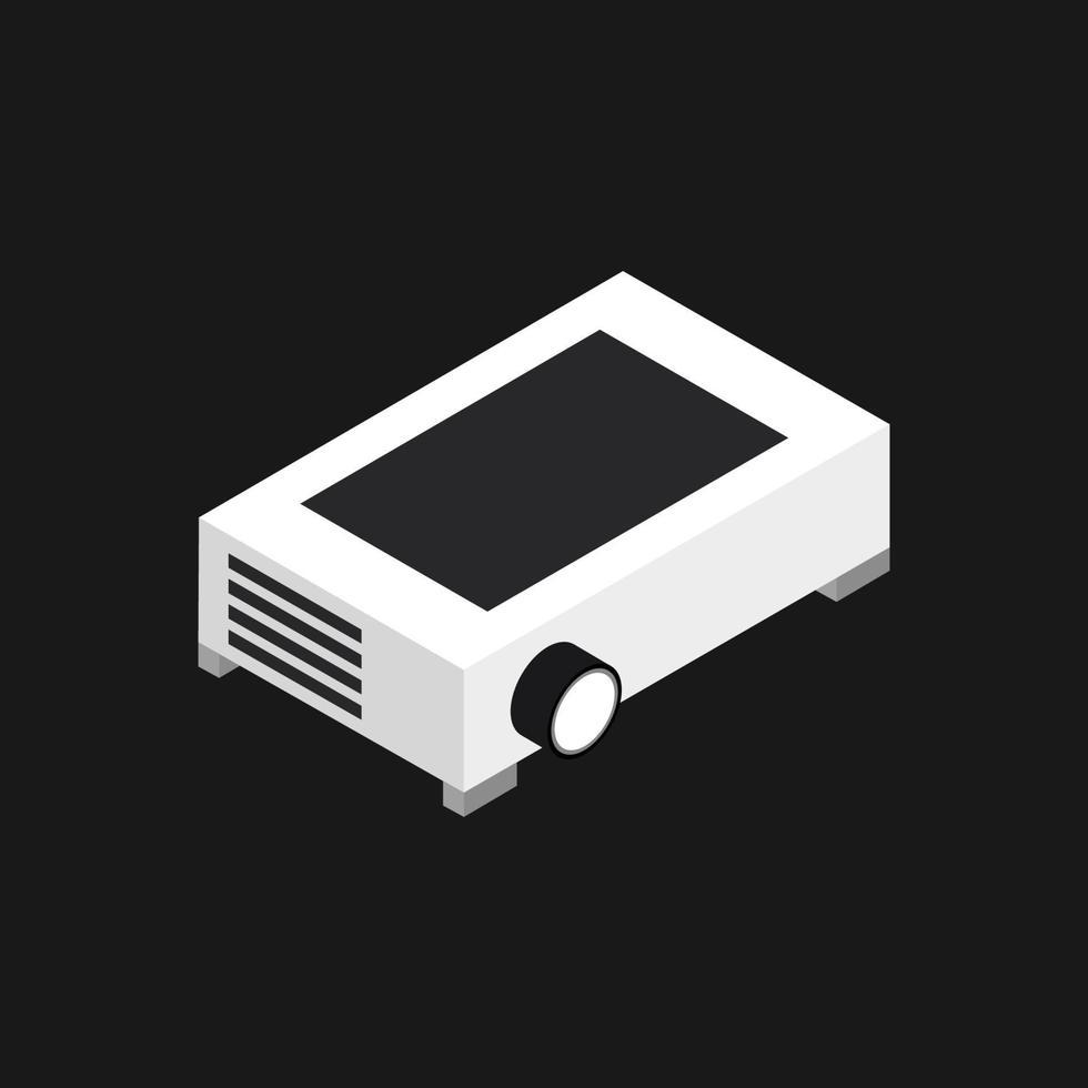 projektor ikon på bakgrunden vektor