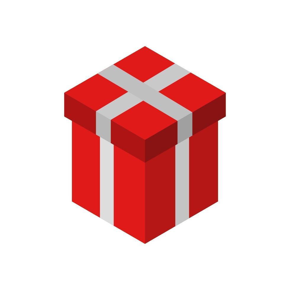 Geschenksymbol auf Hintergrund vektor
