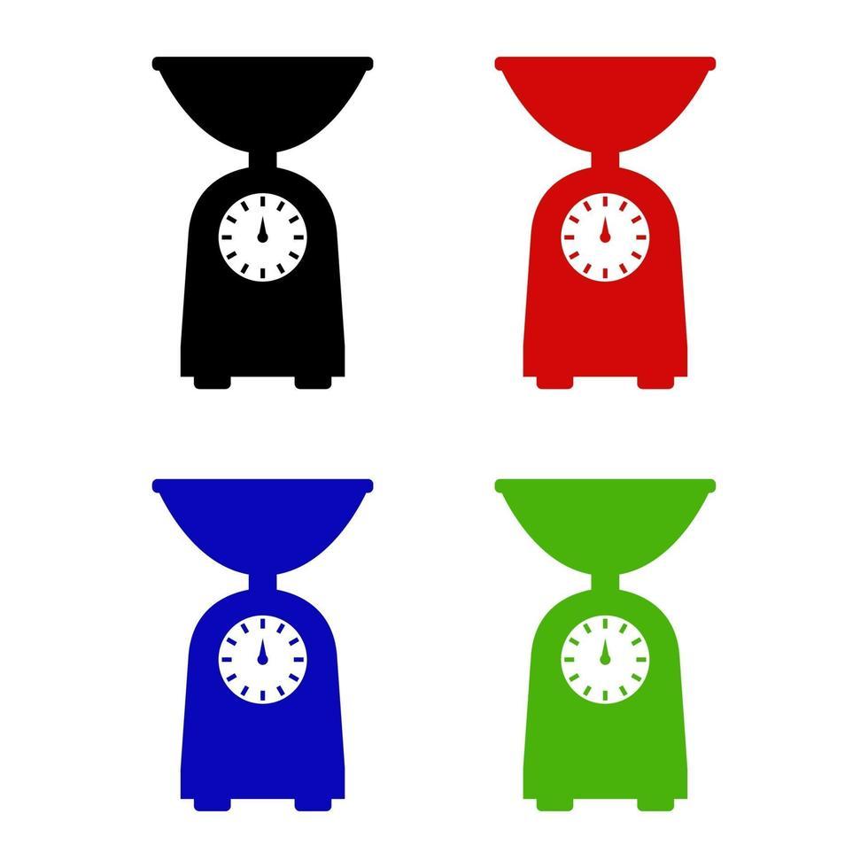 köksvåg ikon på bakgrunden vektor