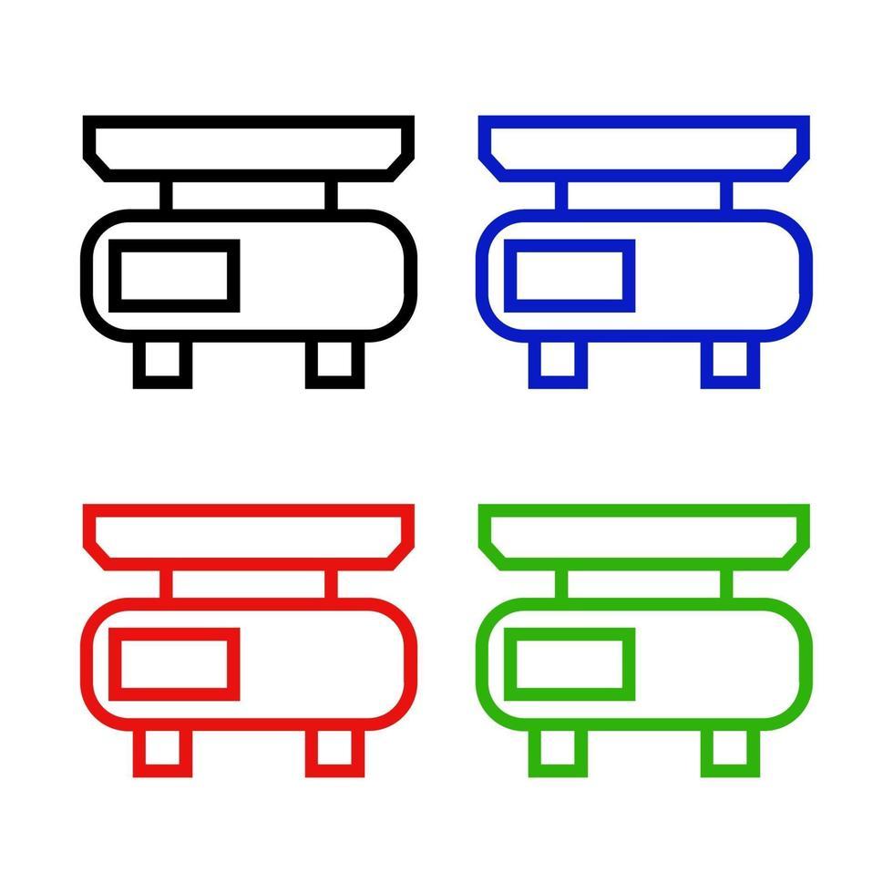 Küchenwaage Symbol auf Hintergrund vektor