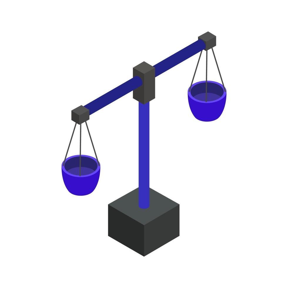 vikt skala ikon på bakgrunden vektor