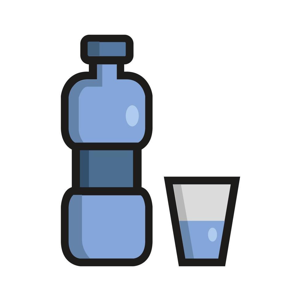 vattenflaskikon på bakgrunden vektor