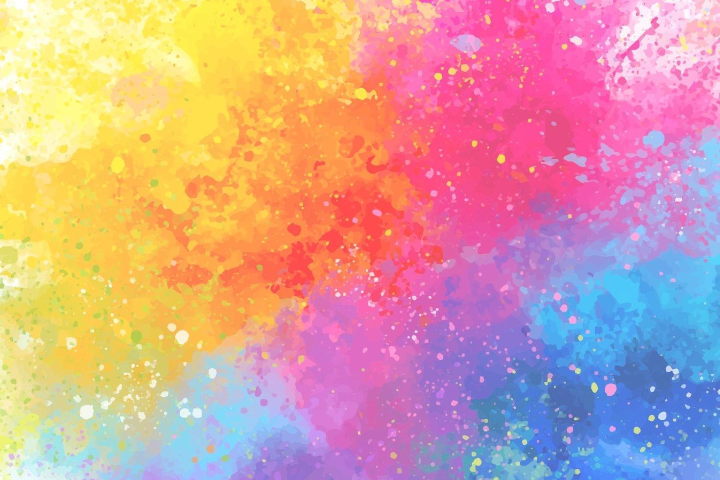 konstnärliga regnbågefärger stänk akvarell bakgrund vektor