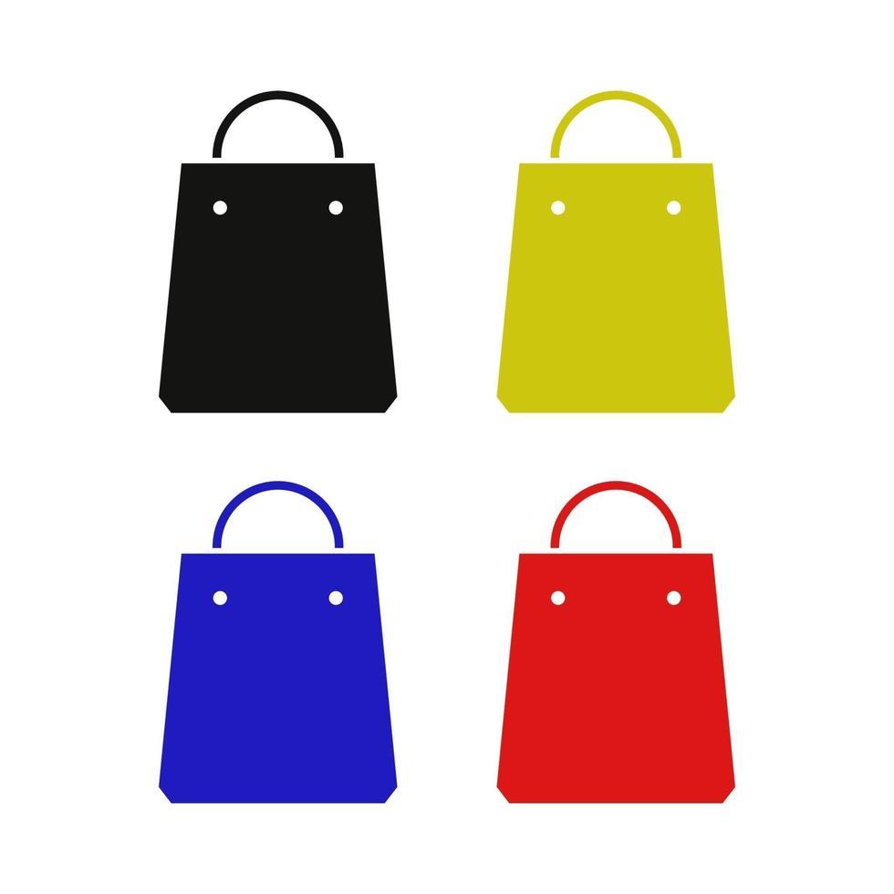 shopping väska ikon på bakgrunden vektor