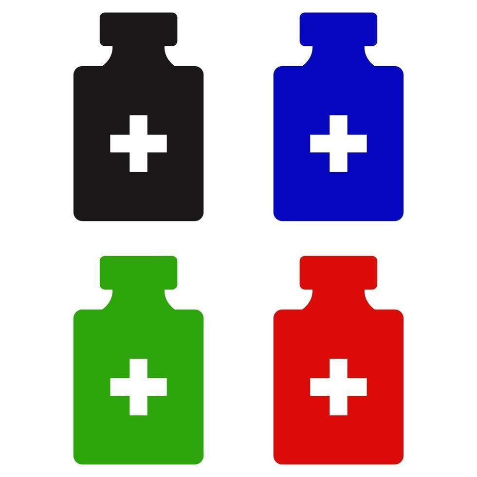 medicinsk flaskikon på bakgrunden vektor