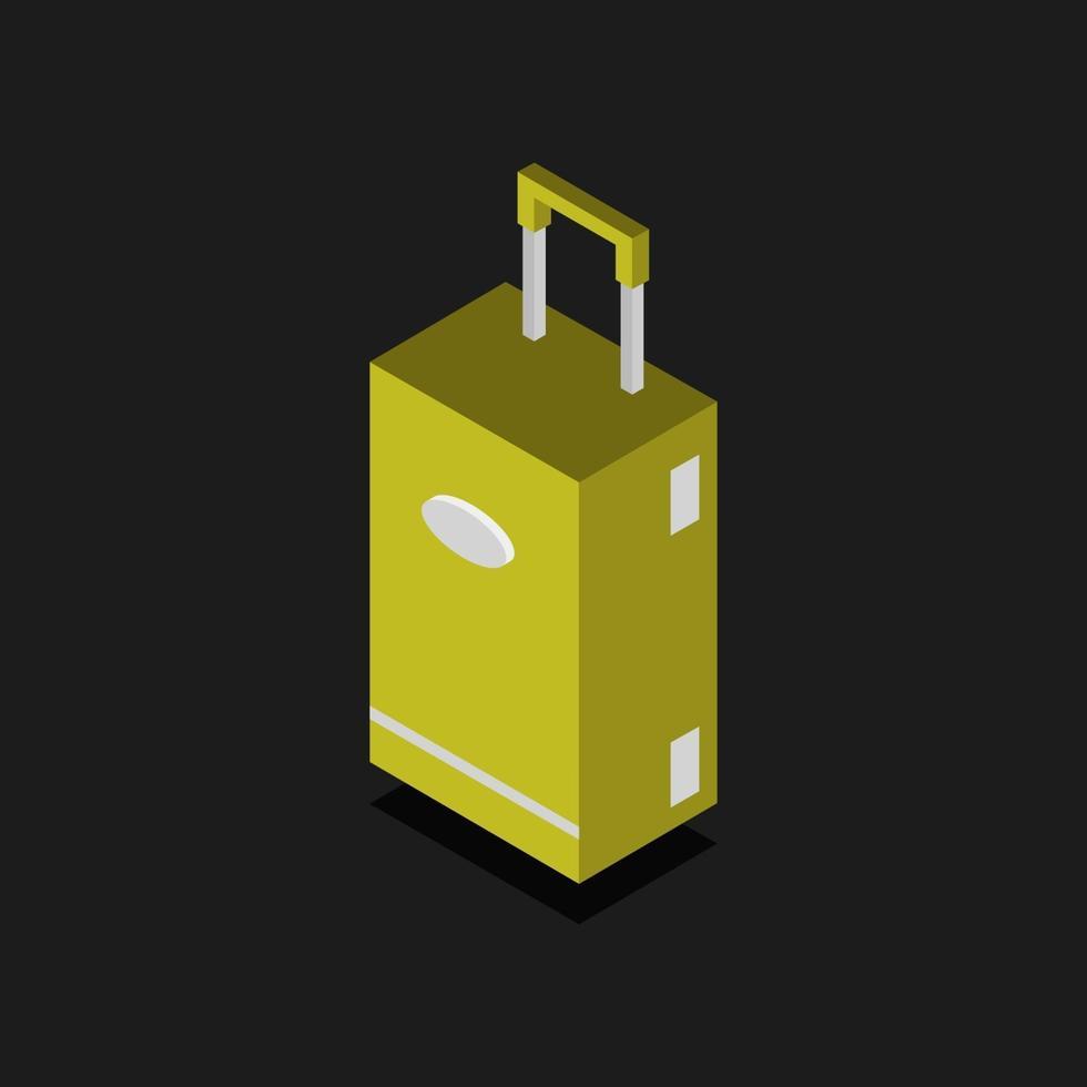 resväska ikon på bakgrunden vektor