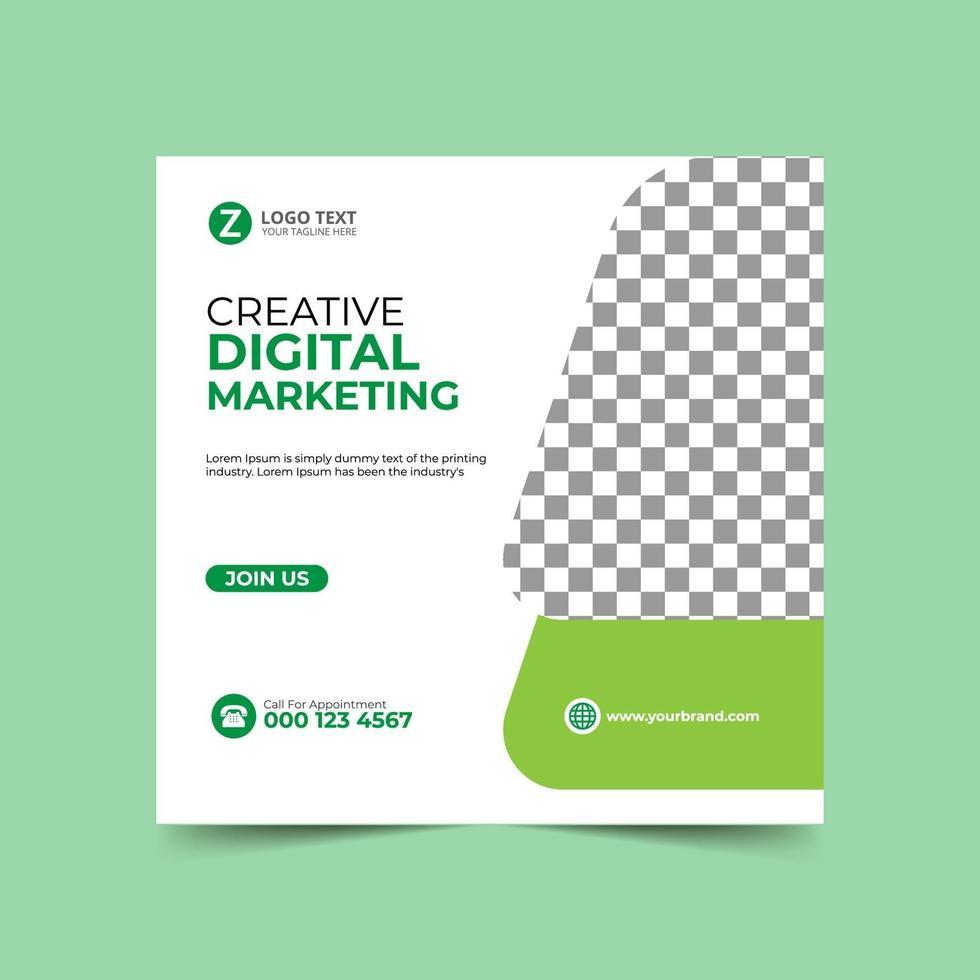 marknadsföring sociala medier post designmall vektor