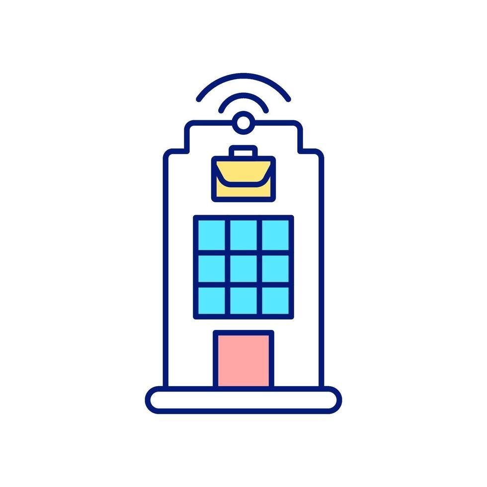 digital arbetsplats rgb färgikon vektor