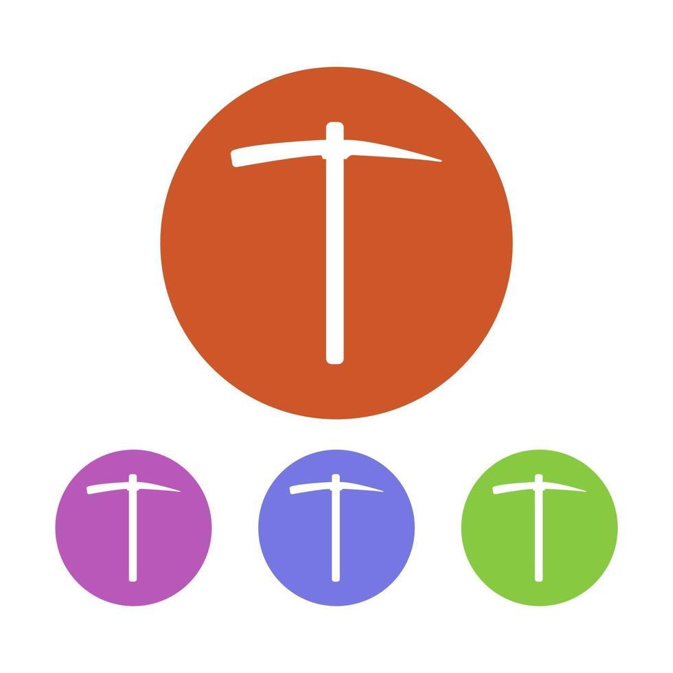 ickaxe-ikonen på bakgrunden vektor