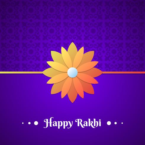 Vacker traditionell Rakhi blommönster designad bakgrund vektor