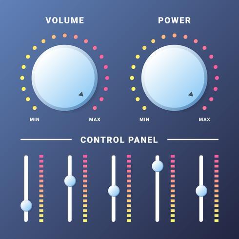 Music Control Volymknapp för webbplatser eller applikationer vektor