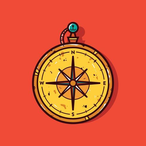 Vintage Kompass Vector