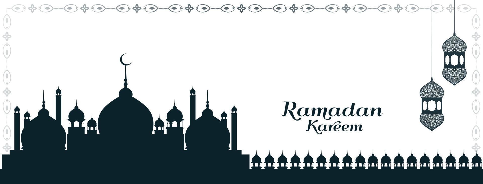 kulturell ramadan kareem festival islamisk banner design vektor