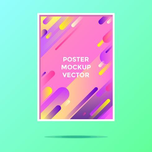 Postmodern Poster Mockup Vektor
