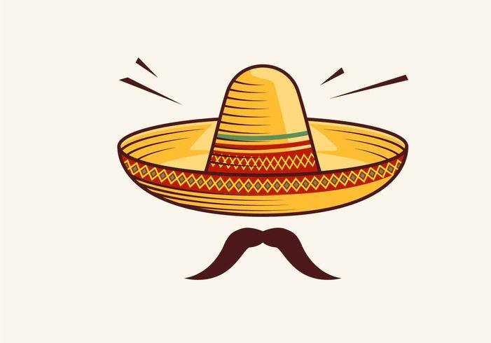 Sombrero-Vektor-Illustration vektor