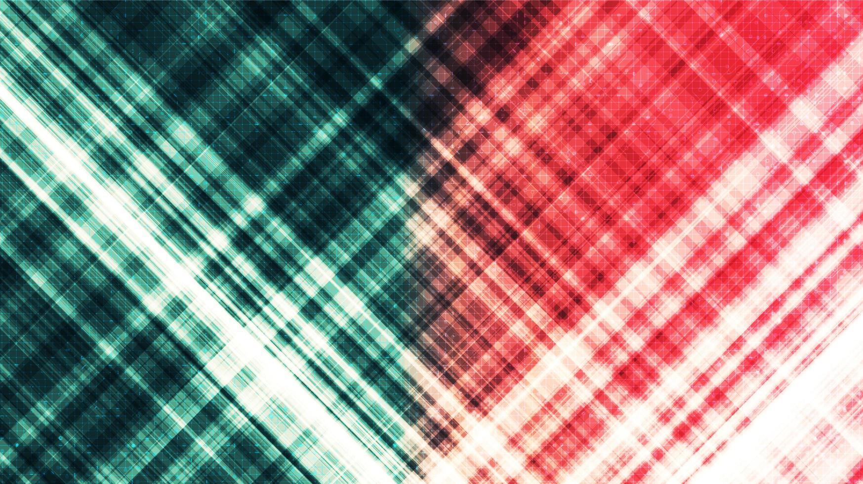 grön och röd teknikbakgrund, högteknologisk digital- och kommunikationskonceptdesign, ledigt utrymme för text vektor