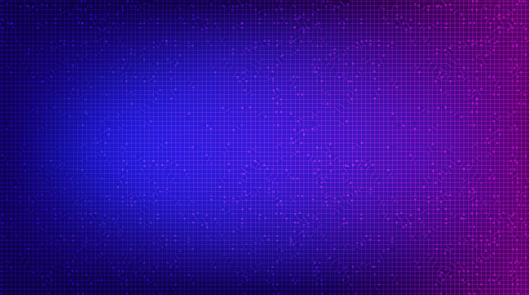 mörkt violett kretsmikrochip på teknikbakgrund, högteknologisk digital och säkerhetskonceptdesign vektor