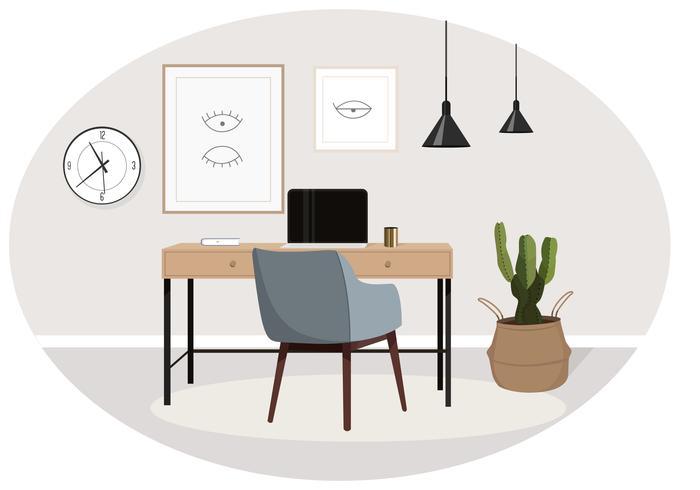 Vector Designer's Desk Illustration