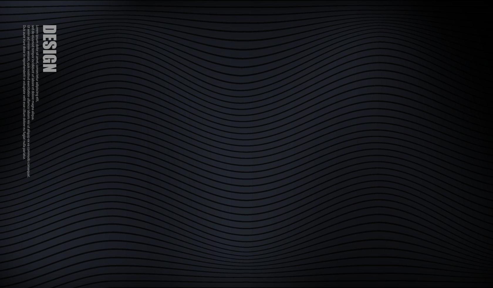 schwarzer Hintergrund mit Linienwellenentwurf vektor