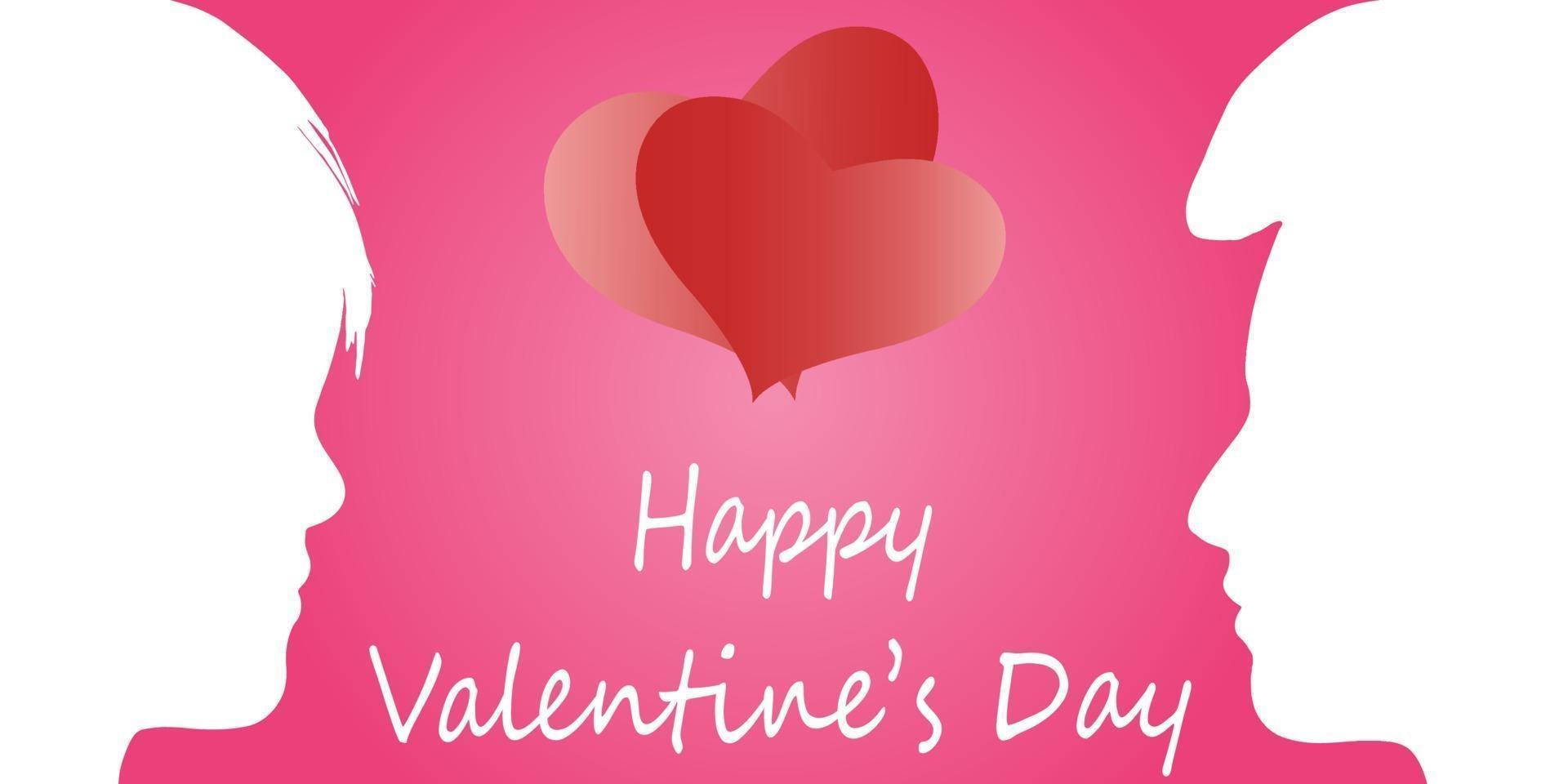 glückliche Valentinstagkarte vektor