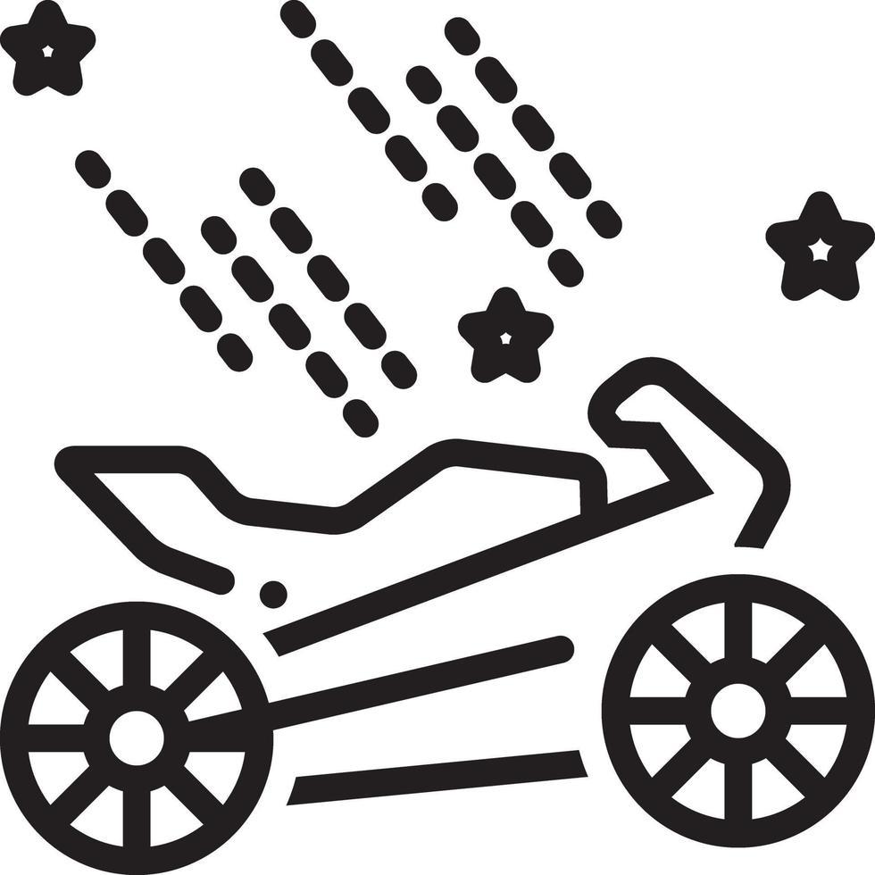 Liniensymbol für Bike Spa vektor