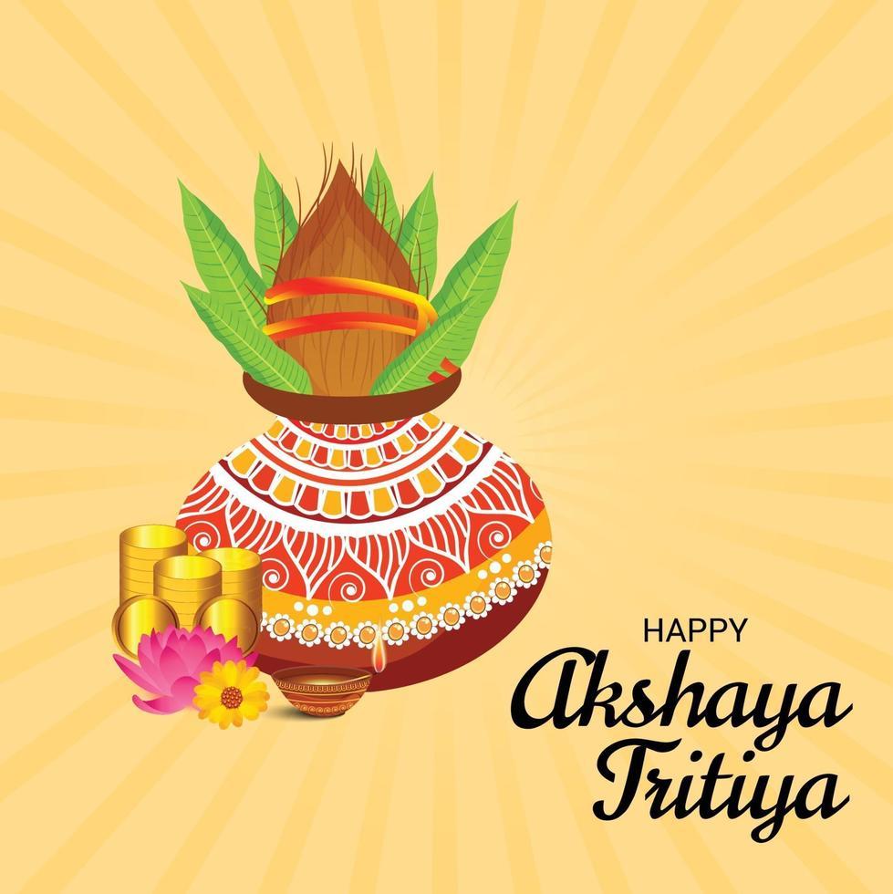 festival för akshaya tritiya firande banner vektor