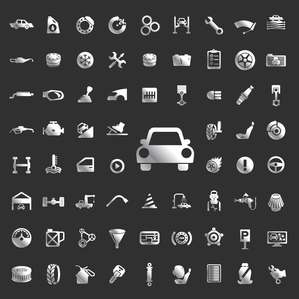 Set Icon Cars Service vektor