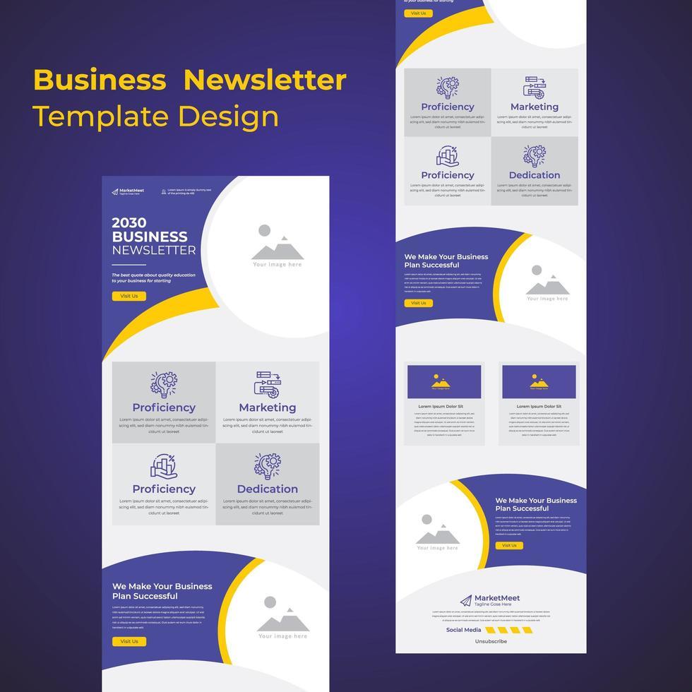 neueste Geschäftskonferenz für Geschäftsstrategiediskussionen E-Mail-Newsletter-Vorlage vektor