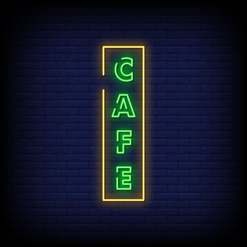café neonskyltar stil text vektor