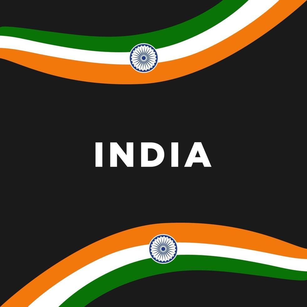 illustration av lycklig Indien republikdag vektor