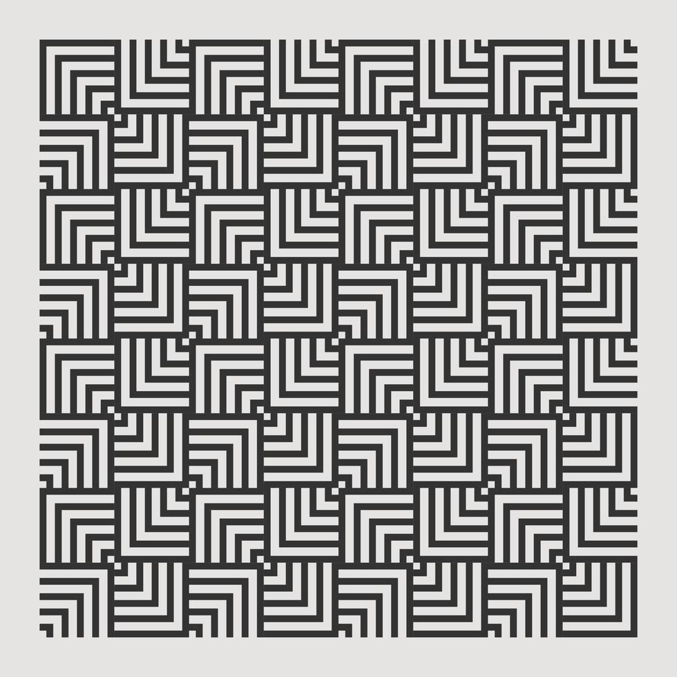 nahtloses Textur abstraktes Muster für Druckelemente Design wiederholen. quadratischer Illusionsvektor vektor