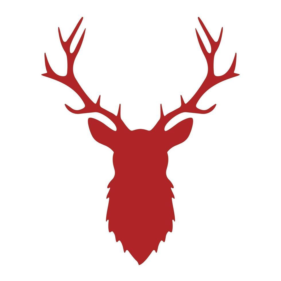 hjorthorn vintage silhuett, rådjur, antilop, vilda djur huvud ikon logo vektor symbol