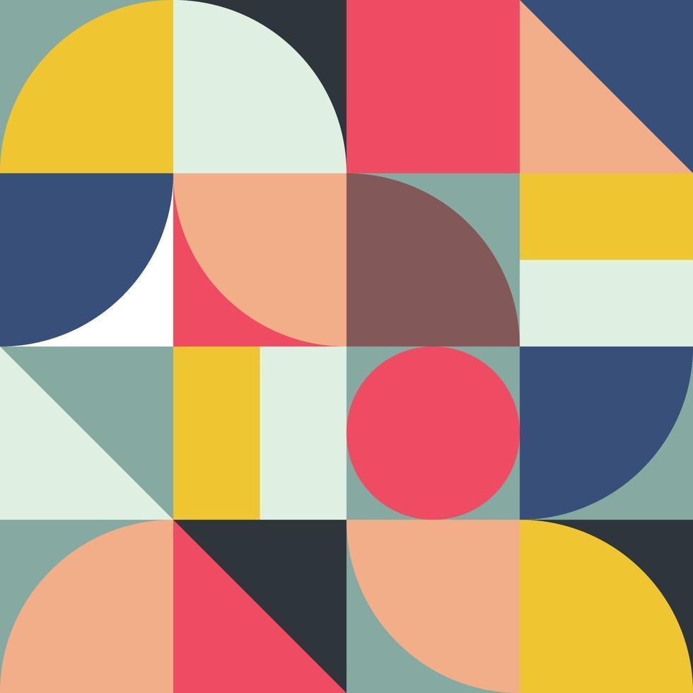 abstrakta geometriska former bakgrundsdesign vektor