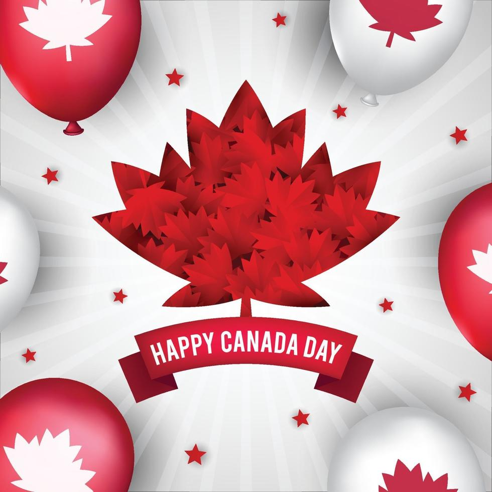 glad Kanada dag bakgrund koncept vektor