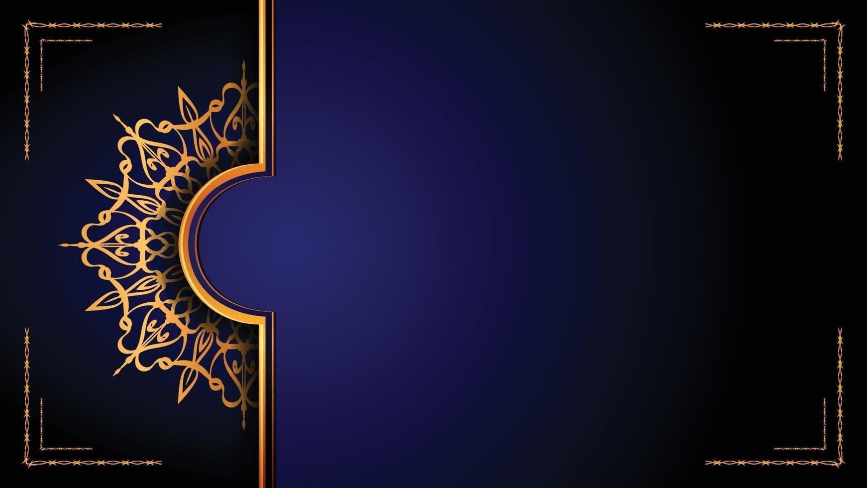 lyx dekorativ mandala logo bakgrund, arabesk stil. vektor