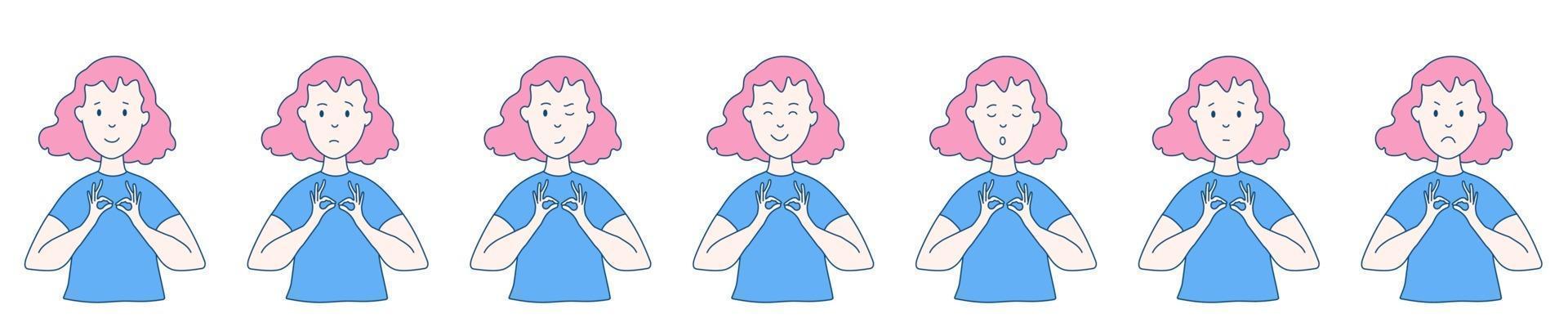 Frau meditiert gesetzt vektor