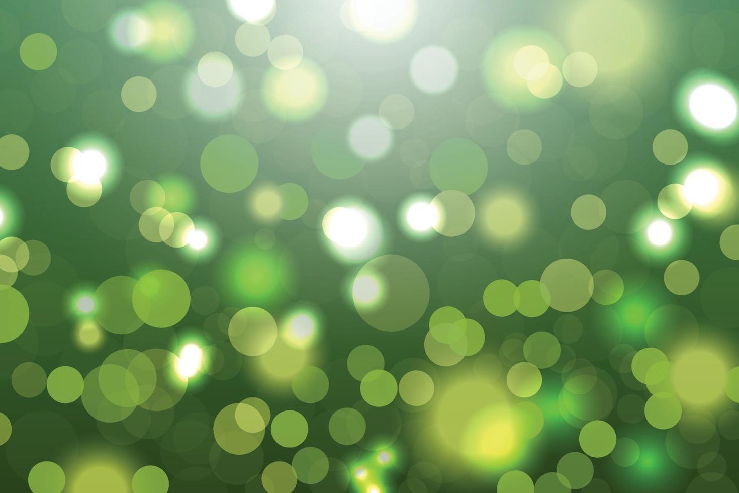 Illustration des grünen Bokeh abstrakten Hintergrunds vektor