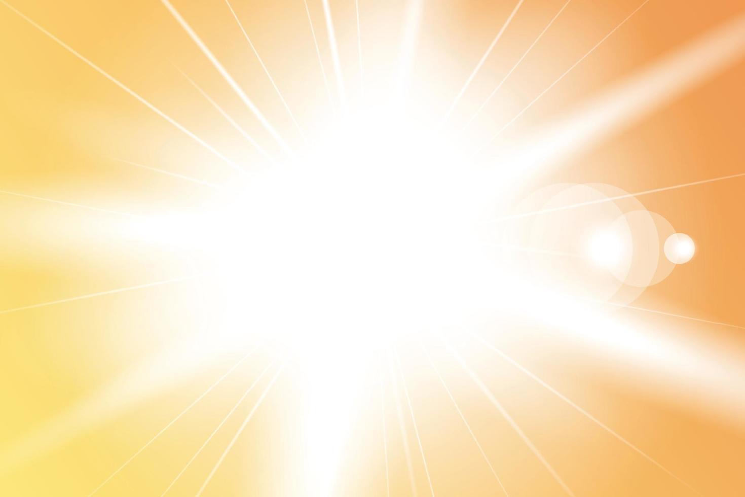 illustration av solstrålar bakgrund vektor