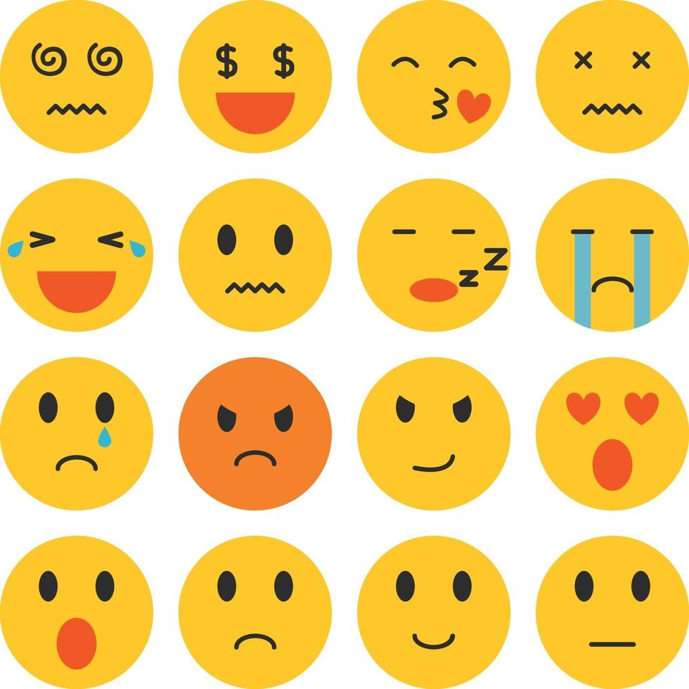 uppsättning emoji vektor